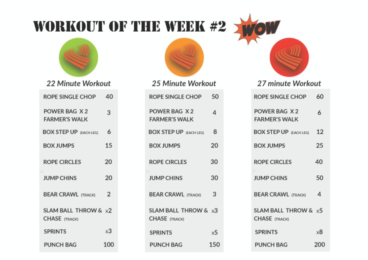 WOW workouts of the week #2